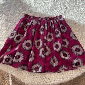 ANTHROPOLOGIE /Odille lined ikat skirt w/pockets